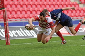 Action from Llanelli v Llandovery: At Parc y Scarlets . (Pic. Riley Sports).