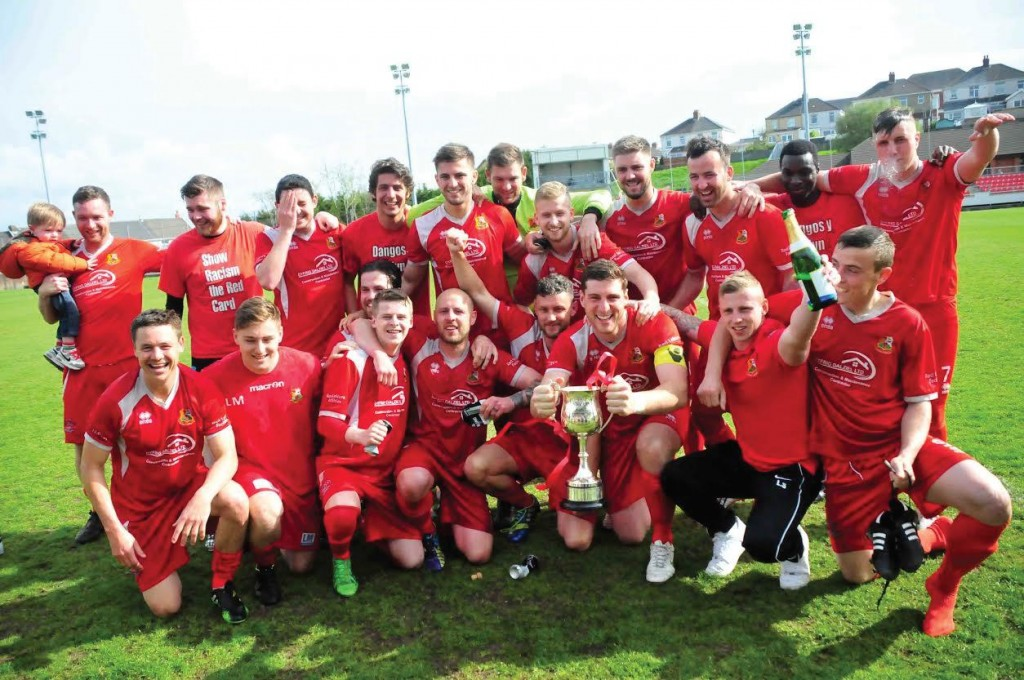 Town Celebrate: Cup win. (Pic. Keith Griffiths).