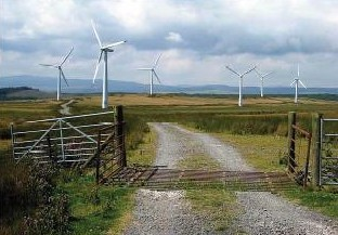 Renewable energy generation: Carno Wind Farm (Pic: Oliver Dixon)