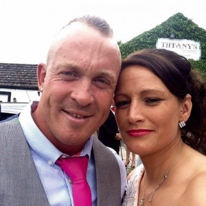 Tragic: Sean Jones with fiance Lisa Boucher just two days before his death.