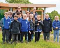 Pupils from Lakefield School: at the Water Lab