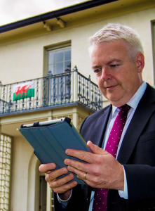 Superfast: Carwyn Jones at Cardigan Castle's official opening