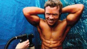 Orangetastic!: Welsh men are among the biggest users of fake tan in the UK