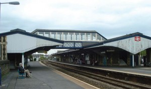 Under investigation: A fire on the walkway that links the platforms is being investigated.
