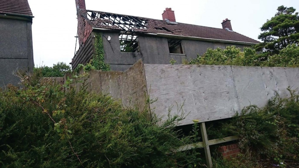 Open to the elements: a property left to rot by the Council. Enforcement action would be taken against a private property owner for allowing this - by the Council