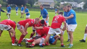 Ruck Time: in action against Chivasso of Italy