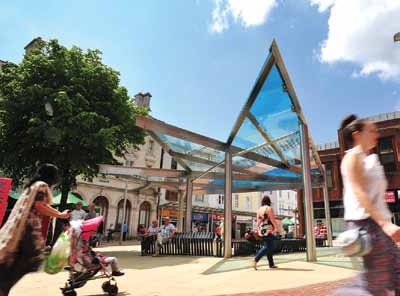 Llanelli town centre: Scheme trialled after long delay