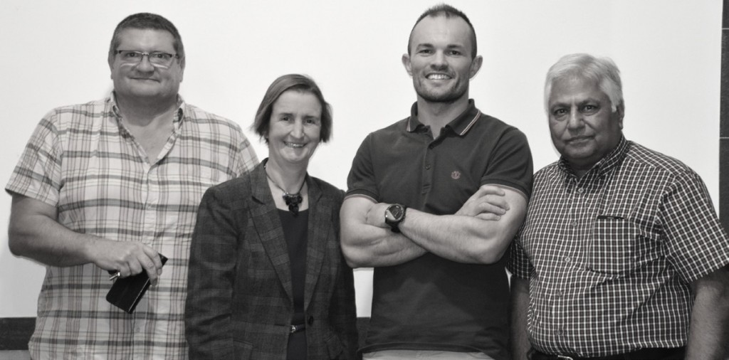The new team: Dr Huw Perry, Nia Griffith, Dr Paul Williams and Dr Devichand