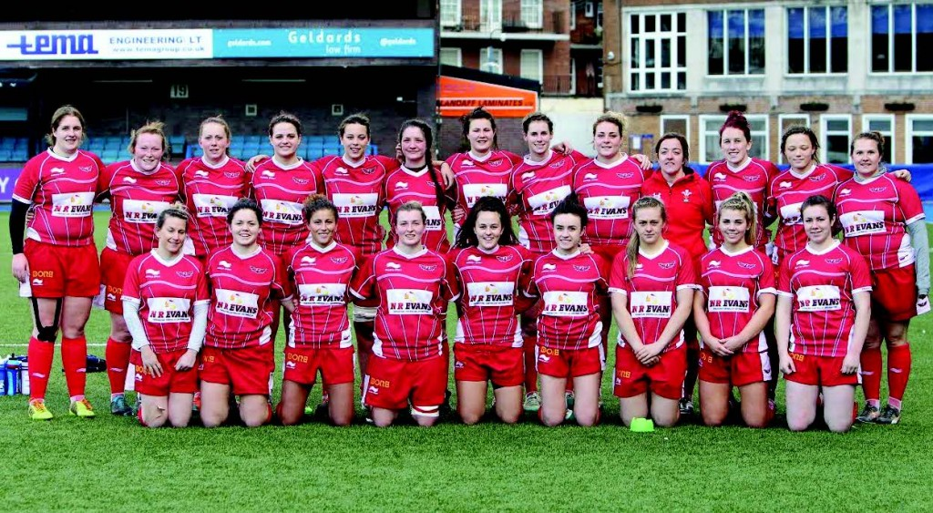 Team Photo: Scarlets Ladies pictured before the game (Pic. Riley Sports)