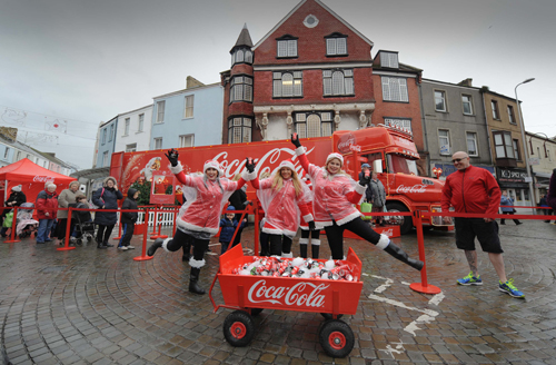 Coca Cola Lorry comes to Llanelli