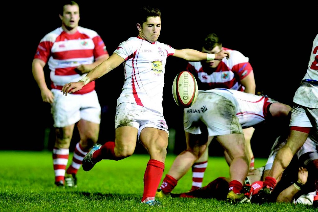 Declan Smith: Clearing Llanelli's lines (Pic. Riley Sports)