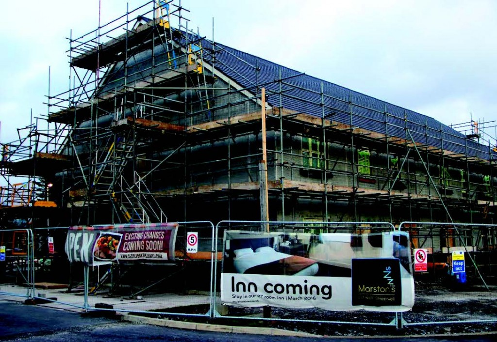 Under construction: The new lodge is due to open in March 2016