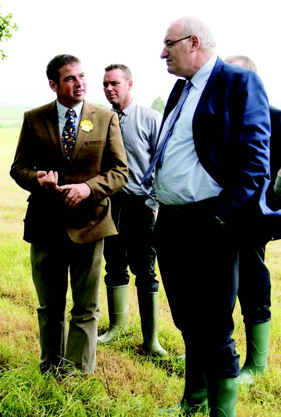 Making the case: Darren Williams highlighted key elements that need simplifying during a farm visit with Commissioner Phil Hogan