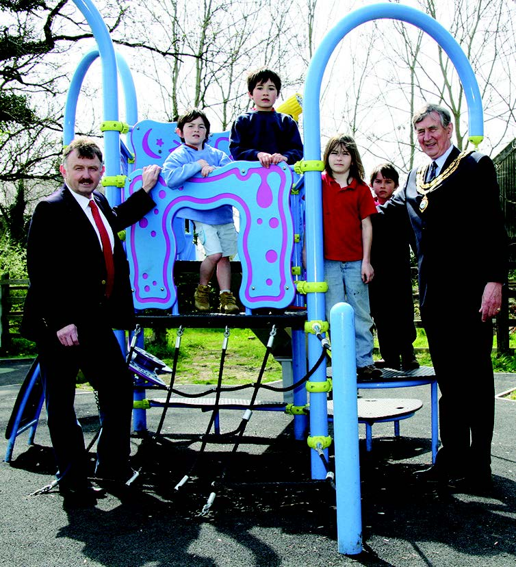 St Clears County Councillor P M Hughes: Opening a children's play area in 2009