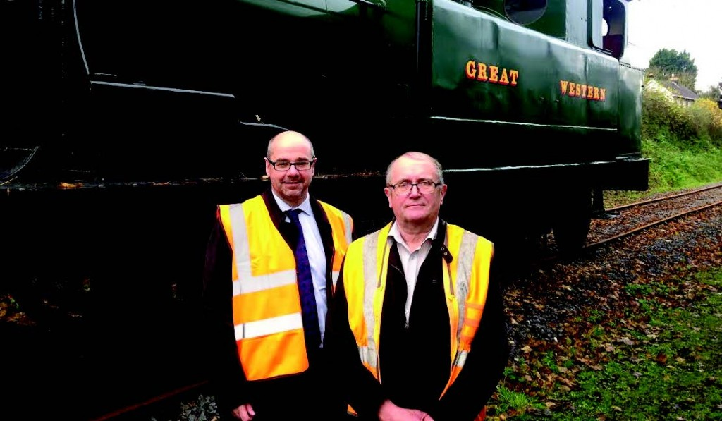 Simon Thomas: With Robert Voyle of Gwili Railway