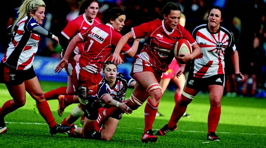 Alisha Butchers: Powers away for the last score of the game (Pic. Riley Sports)