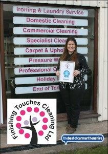 Catherine Thomas of Finishing Touches Cleaning - Business of the Year 2016