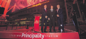 New name: The Principality Stadium replaces the familiar Millennium Stadium
