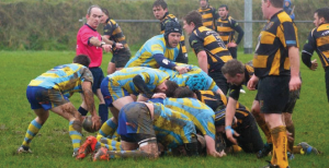 Ruck: Laugharne spread the play wide