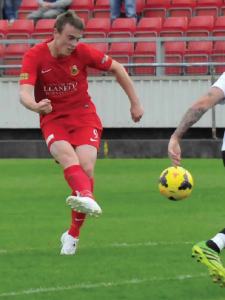 Luke Jones: Scored Llanelli's only goal (Pic. Keith Griffiths)