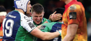 Connacht celebrate: Another try for the hosts