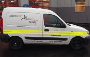The co-responder vehicle: Llanelli's fire crew will help in medical emergencies