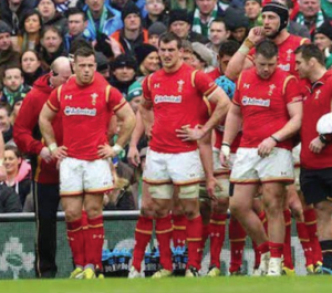 Warburton (centre): With teammates after Conor Murray's try