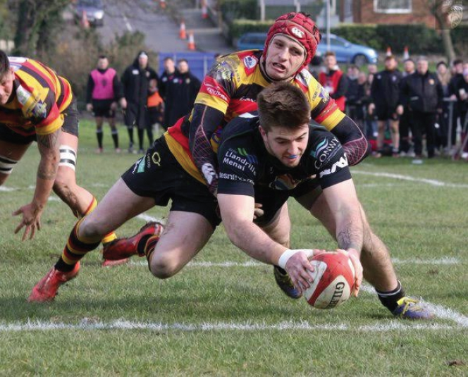 Tiaan Loots: crossed for RGC's first try
