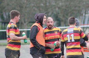 Drink break: Quins relax after a tough first half