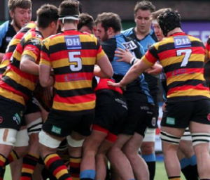 Tempers flare: In the Quins and Cardiff packs