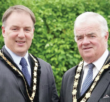Father and son: Deputy Mayor and Mayor of Llanelli, Clive and Bill Thomas