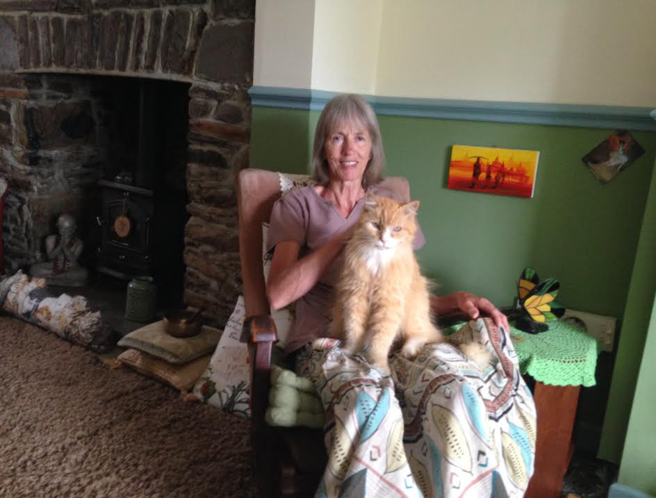 Marmalade: Pictured with owner Mrs Hayler