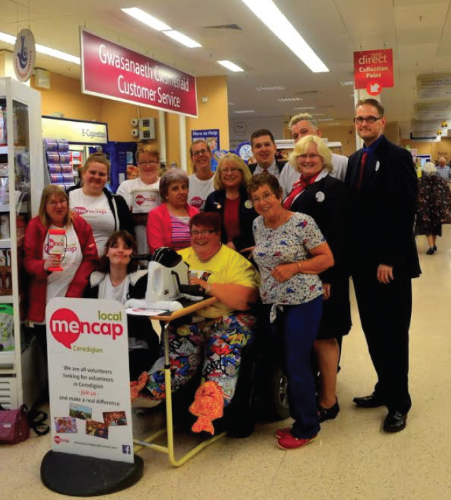 Carys Hope Nicholas: With volunteers, friends, relatives and Cardigan's Tesco staff.