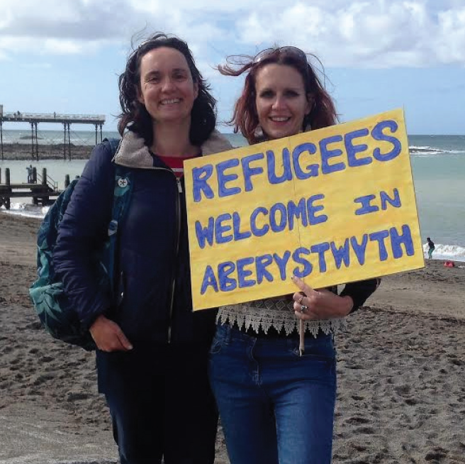 Aberaid members: Lucy Hancock and Lindsey Gaunt