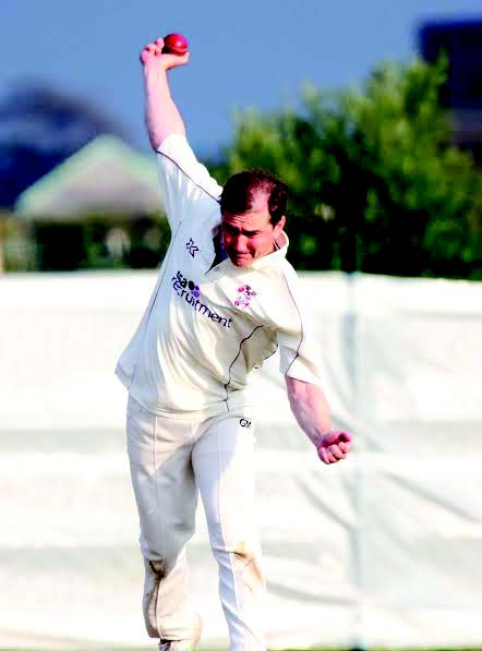 Star: Iwan Rees took four wickets to help give Llanelli victory (Pic. John Davies Photography)