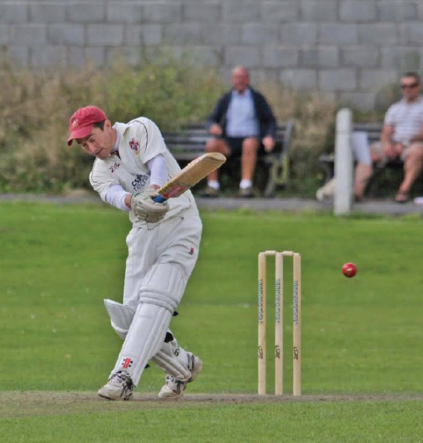 Top score: Iwan Rees top scored with 83 runs for Llanelli (Pic. John Davies Photography)