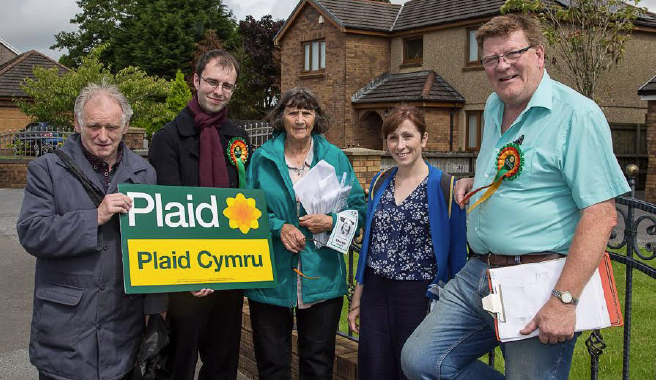 Plaid's team: Supporting new councillor Llinos Davies