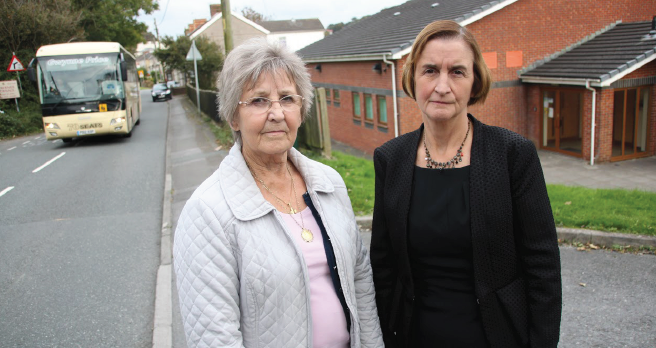 Support: County Councillor Penny Edwards with Nia Grifith MP