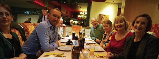 Llanelli MP Nia Griffith: With guests at the Curry Night held at the Ali Raj restaurant in Trinity Road, Llanelli