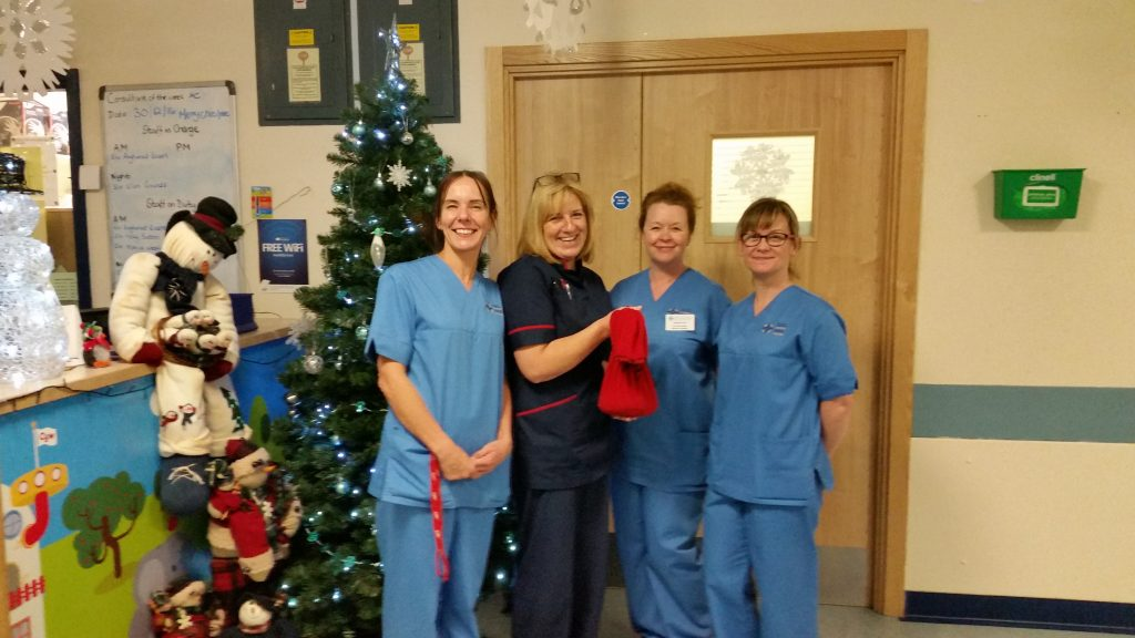 Donation: The staff were delighted