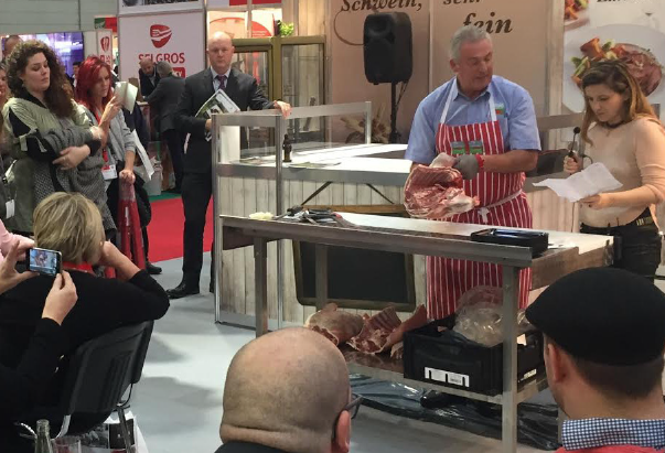 Trade buyers: Taking in a PGI Welsh Lamb butchery demonstration